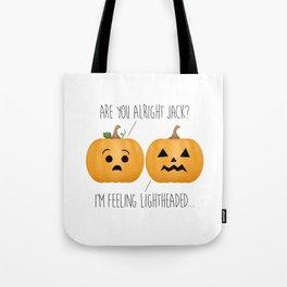 Lightheaded Jack-O-Lantern Tote Bag