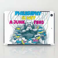junk food iPad Cases featuring Philosophy is not a junk food by Ruta13