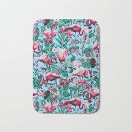 Spring Summer Floral Pattern Bath Mat