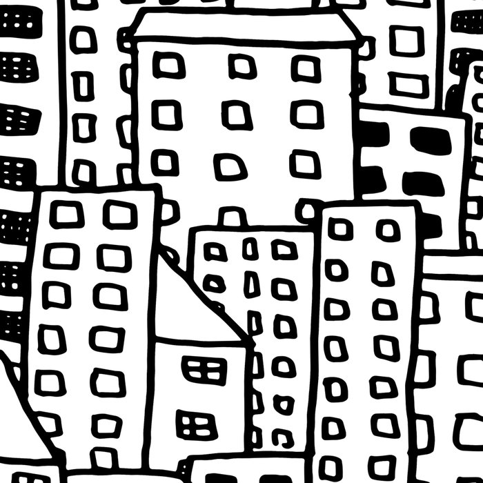 Cityscape Doodling Leggings