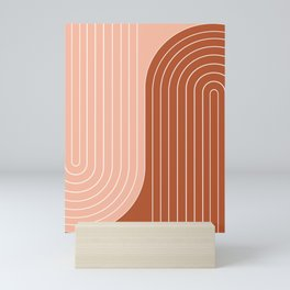 Two Tone Line Curvature XXIX Mini Art Print