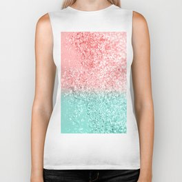 Summer Vibes Glitter #3 #coral #mint #shiny #decor #art #society6 Biker Tank