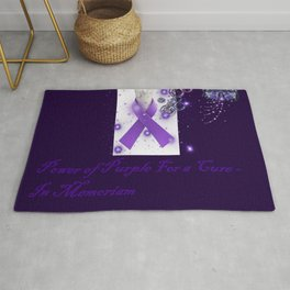 Power Purple For a Cure - In Memoriam Rug