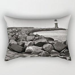 Lighthouse - Warnemuende - Beach - Baltic Sea Rectangular Pillow