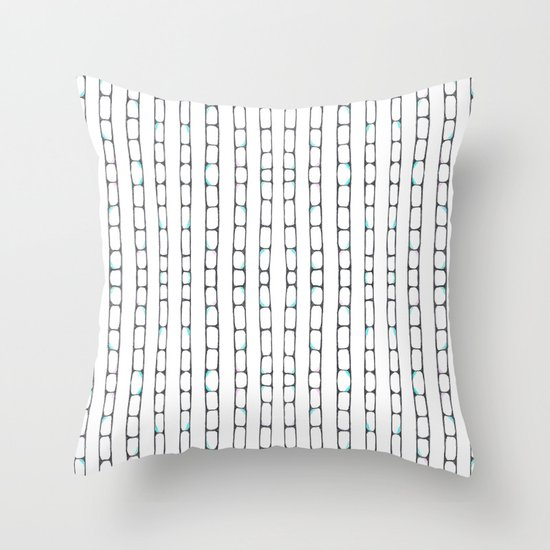 Abstract ladders Throw Pillow