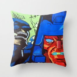Anger in Animation Throw Pillow