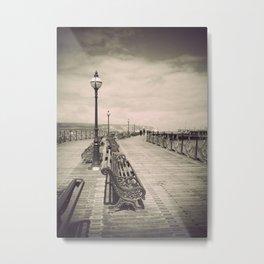 Swanage Pier Antiqued Metal Print