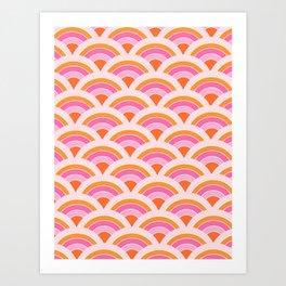 Rainbow connection - tangerine Art Print