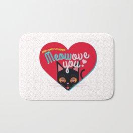 Meowove you! - Valentine's Special Bath Mat