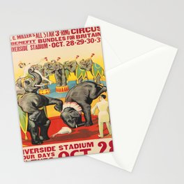 l.c. millers all star 3 - ring circus. circa 1941  Affiche Stationery Cards