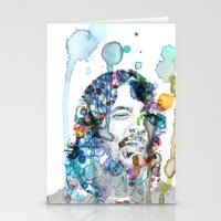 dave grohl Stationery Cards featuring Dave Grohl by NKlein Design