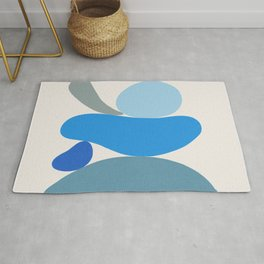 Blue Scoop \\ Abstract Rug