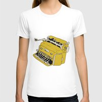 grunge T-shirts featuring Grunge Typewriter by Nan Lawson