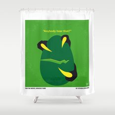 No047 My Jurasic Park minimal movie poster Shower Curtain