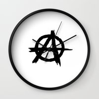 sons of anarchy Wall Clocks featuring Anarchy by Poppo Inc.