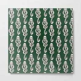 Dark Mark - Green Metal Print