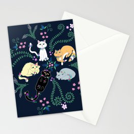 Garden Kitties Stationery Cards