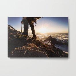 Mountain Climbing Metal Print