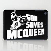 steve mcqueen iPad Cases featuring God saves McQueen by dutyfreak