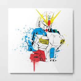 Gundam Splash Art Metal Print