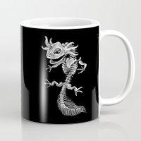 bouletcorp Mugs featuring Axolotl Skeleton by Bouletcorp