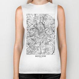 Moscow White Map Biker Tank