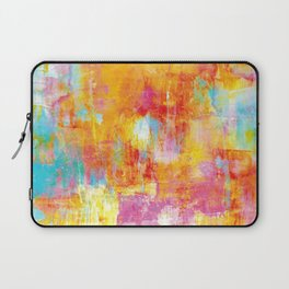 OFF THE GRID Colorful Pastel Neon Abstract Watercolor Acrylic Textural Art Painting Nature Rainbow  Laptop Sleeve
