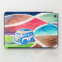 vw bus iPad Cases featuring VW Bus Campervan by Carrie at Dendryad Art