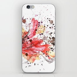 fuego inicial iPhone Skin