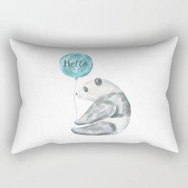 Panda Greeting Rectangular Pillow