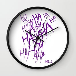 The Joker Laugh Purple Wall Clock