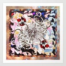Cosmic Swim Art Print