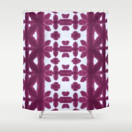 Maroon Pima Shibori Shower Curtain