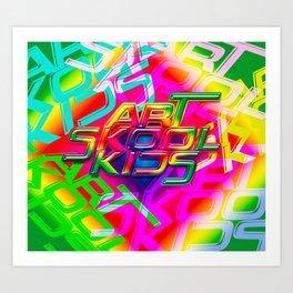 Art Skool Kids Art Print