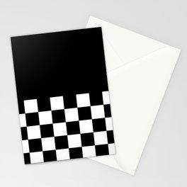 CHECKERED (BLACK-WHITE) Stationery Cards