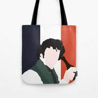 grantaire Tote Bags featuring GRANTAIRE – LES MISÉRABLES by K. Frank
