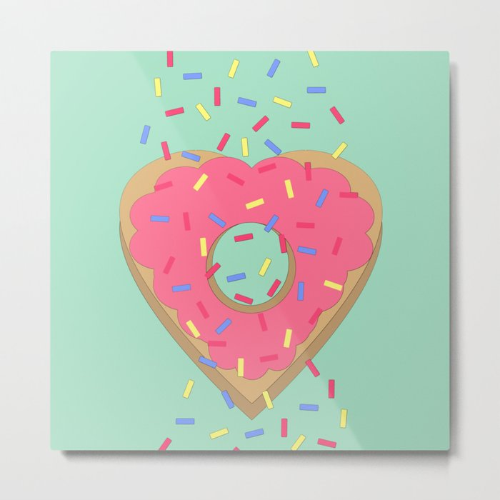 Doughnut Love Metal Print