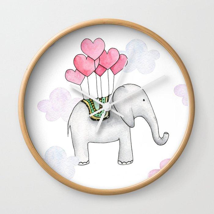 Cute Elephant Cartoon Aluminium Print Dibond