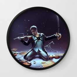 Outburst of violince Wall Clock