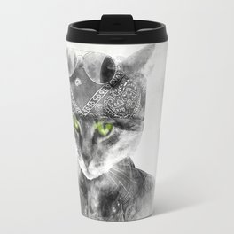 Biker Cat Travel Mug