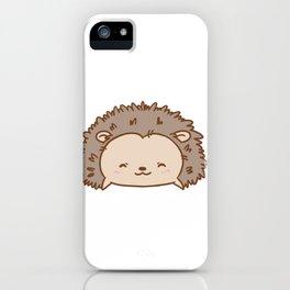 A Bit On Hedge Hedgehog Design Cute Hedgehogs Kids Adult Gift Print iPhone Case