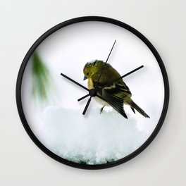 Mourning Prayer (Goldfinch) Wall Clock