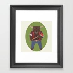 Lumberyak! Framed Art Print