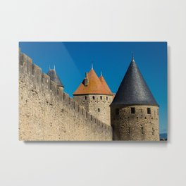 Carcassonne Towers Metal Print