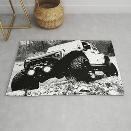 Beefy GP in Black and White Rug