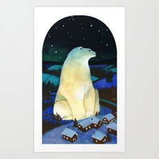 Winter King Art Print