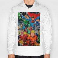 superheros Hoodies featuring Heroes Unite by JayKay