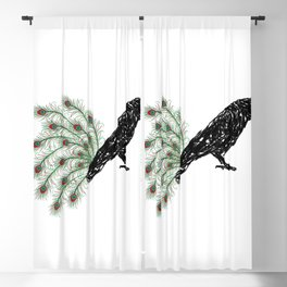 Funny Crow Blackout Curtain