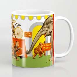 Retro Circus Poster - Monkeys Coffee Mug