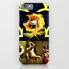 God and Peril Classic Painting Collage - Jéanpaul Ferro iPhone Case